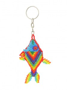 3-Handcrafted-Chaquira-Beads-Key-Chain-Fish-Front