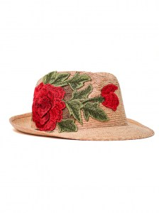 ARANTZITA WOMAN PALM HAT FLOWER