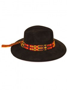 Black-Fabric-Handmade-Hat-IV-Macrame-Ribbon-F-10140-10