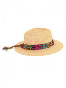 CARDENISTA HANDMADE PALM HAT HAND KNITTED RIBBON
