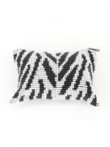 Handcrafted-Chaquira-Beads-Coin-Purse-Zebra-Front